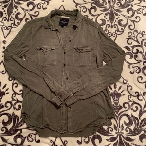 American eagle long sleeve button up XS